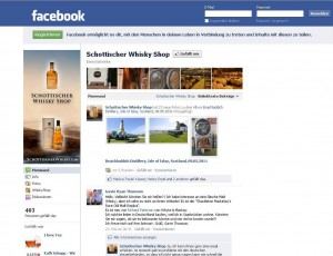 Schottischer Whisky Shop bei Facebook
